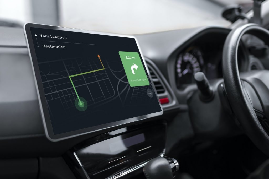 Gps system in a smart car